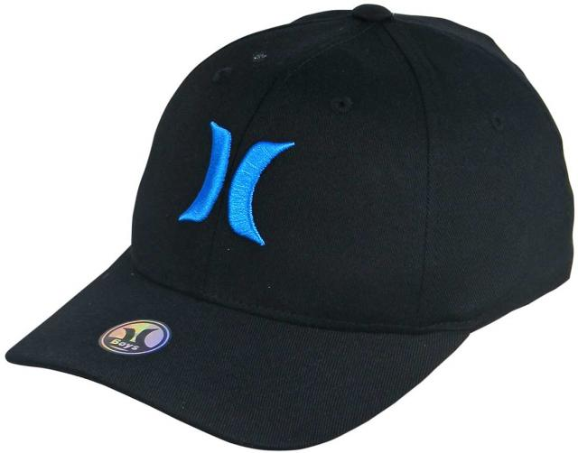 Hurley Boy's One and Only Hat - Black / Cyan