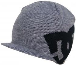 DC Boy's Big Star Visor Beanie - Heather Grey / Black