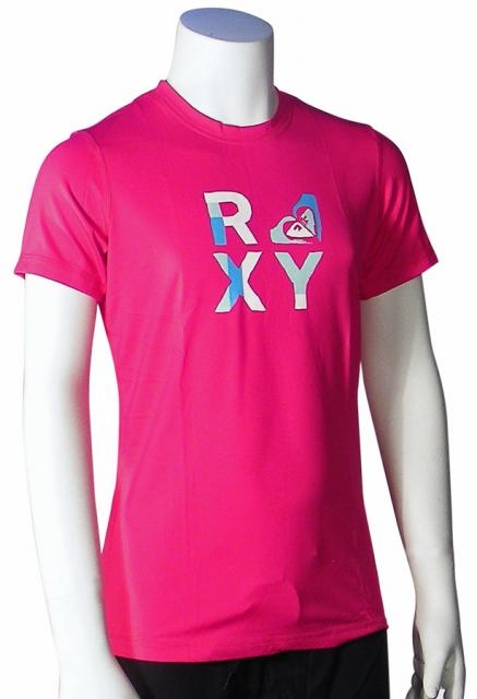 Roxy Girl's Check Mate SS Rash Guard - Berry