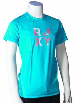 Zoom for Roxy Girl's Check Mate SS Rash Guard - Turquoise