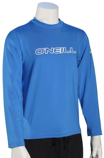 O'Neill Kid's Basic Skins LS Surf Shirt - Brite Blue