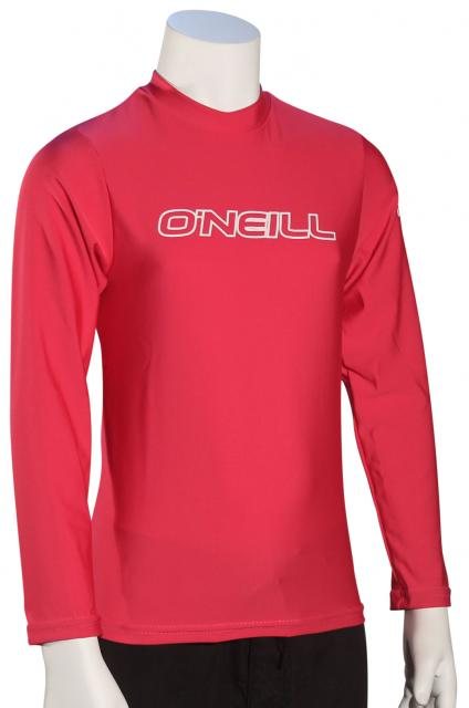 O'Neill Girl's Basic Skins LS Surf Shirt - Watermelon