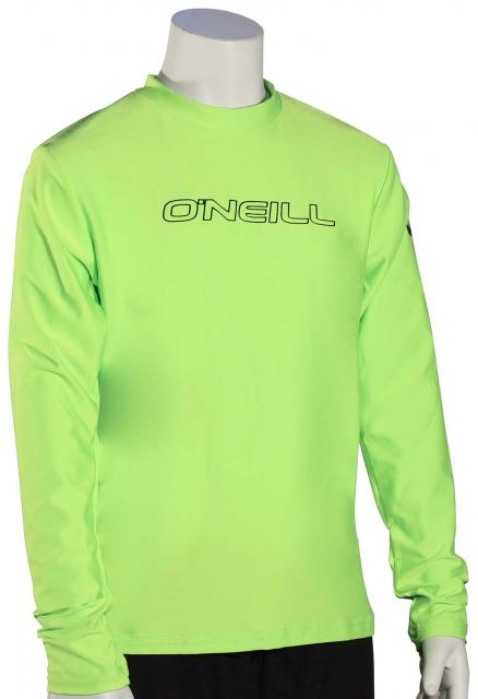 O'Neill Kid's Basic Skins LS Surf Shirt - Lime