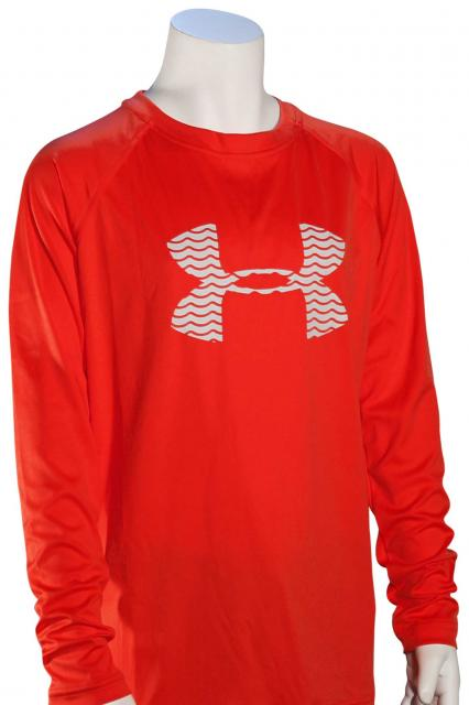Under Armour Boy's Slasher LS Surf Shirt - Rocket Red