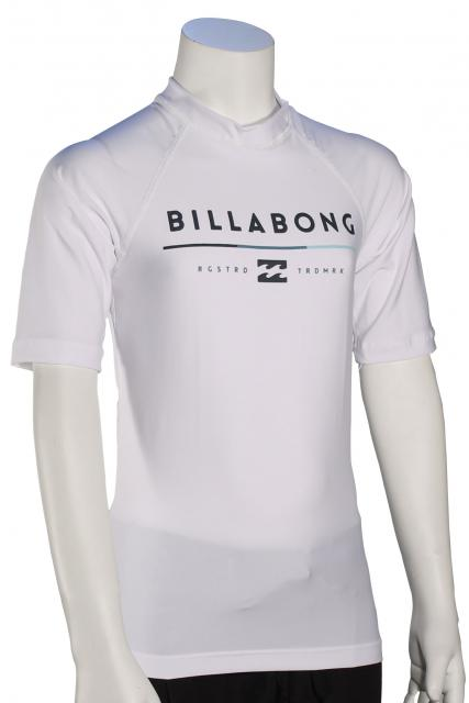 Billabong Boy's All Day SS Rash Guard - White