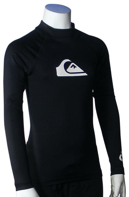 Quiksilver All Time LS Boy's Rash Guard - Black