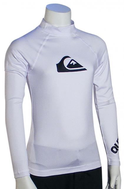 Zoom for Quiksilver Boy's All Time LS Rash Guard - White