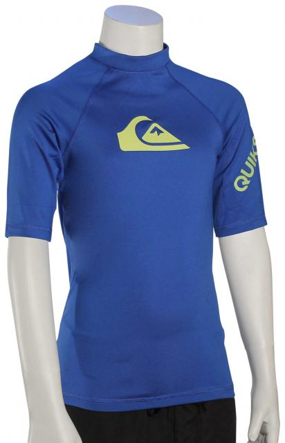 Quiksilver Boy's All Time SS Rash Guard - Turkish Tea