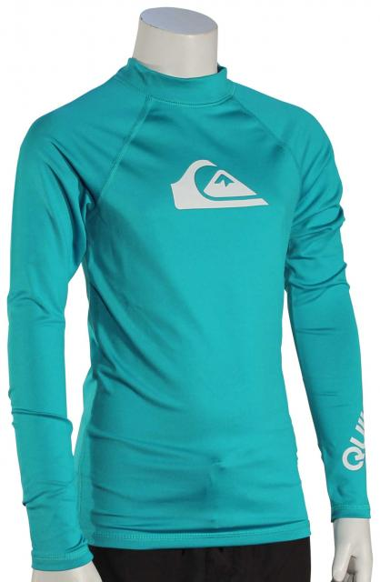 Quiksilver Boy's All Time LS Rash Guard - Typhoon