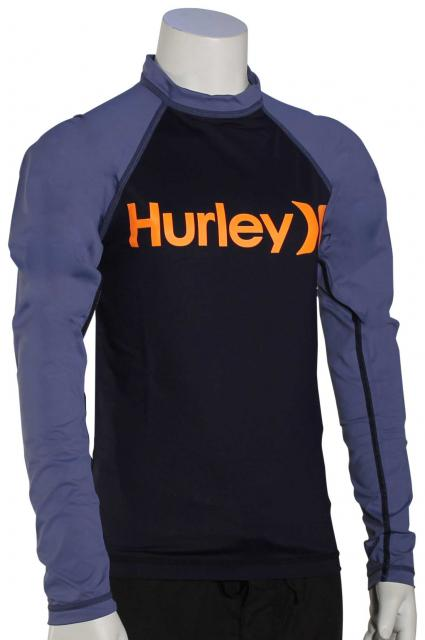 Hurley Boy's One & Only LS Rash Guard - Obsidian