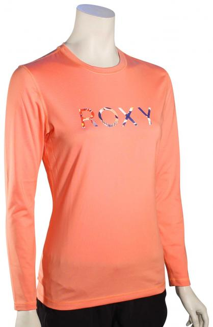 Roxy Palms Away LS Rash Guard - Sunkissed Coral
