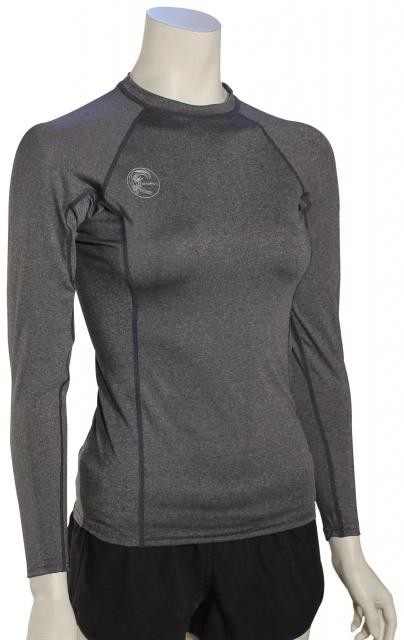 O'Neill Women's Hybrid LS Rash Guard - Graphite