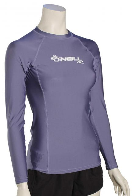 O'Neill Women's Basic Skins LS Rash Guard - Mist