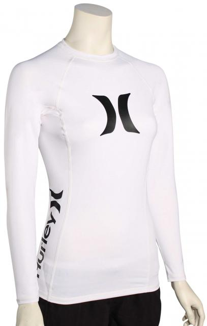 Hurley Women's One & Only LS Rash Guard - White