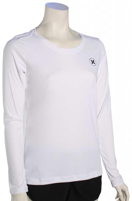 Hurley Women's Dri-Fit Icon LS Surf Shirt - White