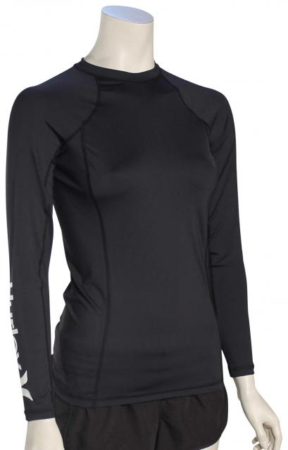 Hurley Women's One & Only LS Rash Guard - Black