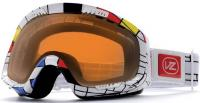 Von Zipper Feenom Snow Goggles - Mondrian Red / Amber Chrome