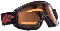 Anarchy Effin Snow Goggles - Shiny Black / Amber
