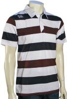 Billabong Clyde Striped Polo - White / Brown