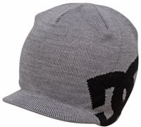 DC Big Star Visor Beanie - Heather Grey