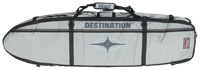 Destination Surf Shortboard Coffin w/ Wheels - Grey