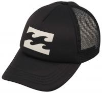 Billabong Wave Logo Women's Trucker Hat - Off Black