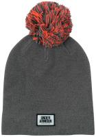 Under Armour Graphic Pom Women's Beanie - Carbon Heather / Marathon Red