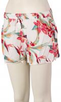 Roxy Salty Tan Shorts - Bright White Tropic
