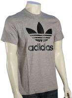 Adidas Original Trefoil T-Shirt - Grey Heather