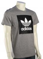 Adidas Solid Logo Fill T-Shirt - Core Heather Grey