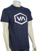 RVCA Hex VA T-Shirt - Harbor Blue