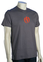 Electric Volt T-Shirt - Charcoal / Red