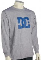 DC Star LS T-Shirt - Heather Grey / Blue