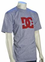 DC Star T-Shirt - Heather Grey / Red