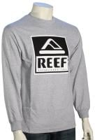 Reef Logo LS T-Shirt - Heather Grey