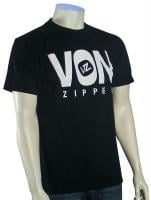 Von Zipper Front Line T-Shirt - Black