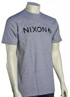 Nixon Basis T-Shirt - Heather Grey / Black