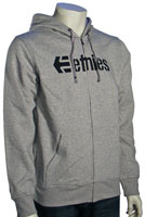 Etnies Corporate High Zip Hoody - Grey Heather