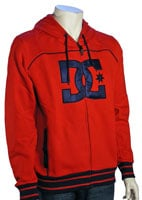 DC Speed Zip Fleece Hoody - Red