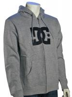 DC Star Zip Fleece Hoody - Heather Grey / Black