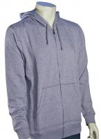 DC Rebel Zip Fleece Hoody - Heather Grey