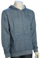 DC Rebel Zip Fleece Hoody - Heather Blue Stone