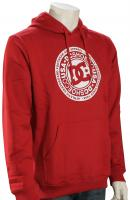 DC Circle Star Pullover Hoody - Chili Pepper / White