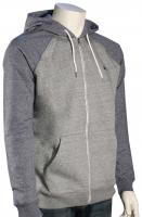 Quiksilver Everyday Zip Hoody - Light Grey Heather / Navy Heather