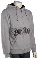 Quiksilver Discreet Cat Zip Fleece Hoody - Athletic Heather