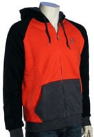 Quiksilver The Bends Zip Fleece Hoody - Red
