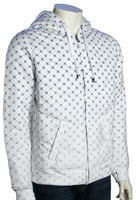 Hurley Iconic Print Zip Fleece Hoody - Whitewash