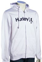 Hurley One and Only Zip Fleece Hoody - White / Black