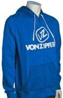Von Zipper Cement Zip Fleece Hoody - Royal