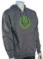 Dragon Icon Zip Hoody - Gunmetal Heather